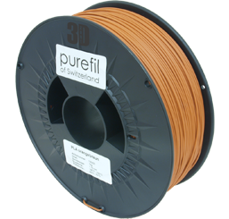 purefil of Switzerland PLA - Filament - Orangebraun - 1.75mm - 1kg