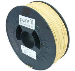 purefil of Switzerland PLA - Filament - Beige - 1.75mm - 1kg