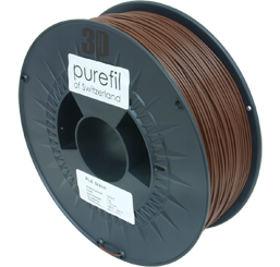 purefil of Switzerland PLA - Filament - Nussbraun - 1.75mm - 1kg