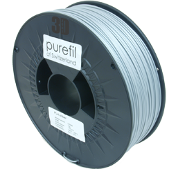 purefil of Switzerland - PLA - Filament - Silber - 1.75mm - 1kg