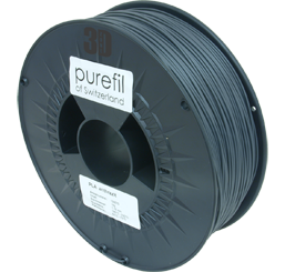 purefil of Switzerland PLA - Filament - Anthrazit - 1.75mm - 1kg