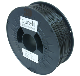 purefil of Switzerland PLA - Filament - Schwarz - 1.75mm - 1kg