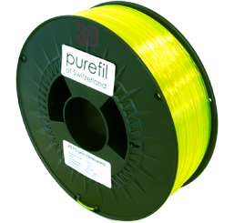 purefil of Switzerland PETG - Filament - Gelb Transparent - 1.75mm - 1kg