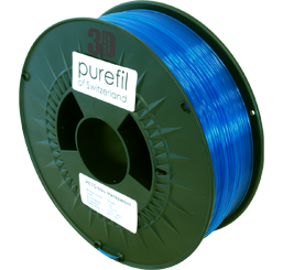 purefil of Switzerland PETG - Filament - Blau Transparent - 1.75mm - 1kg