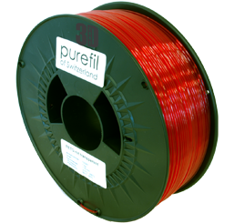 purefil of Switzerland PETG - Filament - Rot Transparent - 1.75mm - 1kg