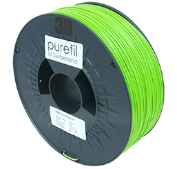 purefil of Switzerland ABS - Filament - Leuchtgrün - 1.75mm - 1kg