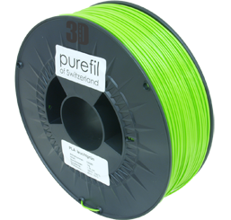 purefil of Switzerland PLA - Filament - Leuchtgrün - 1.75mm - 1kg
