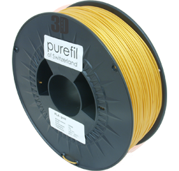 purefil of Switzerland - PLA - Filament - Gold - 1.75mm - 1kg