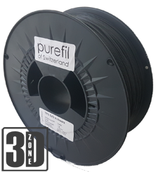 purefil of Switzerland - TPC - Flex Filament 52D - Schwarz - 1.75mm - 1kg