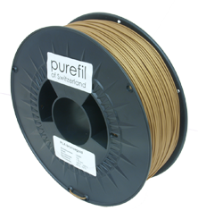 purefil of Switzerland PLA - Filament - Bronzegold - 1.75mm - 1kg
